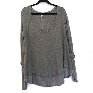 [FRE EPEOPLE] Oversized V Neck Thin Pullover SP
